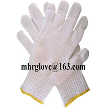 Brand MHR 7gauge bleach white color led traffic glove/thin working glove/drivers glove