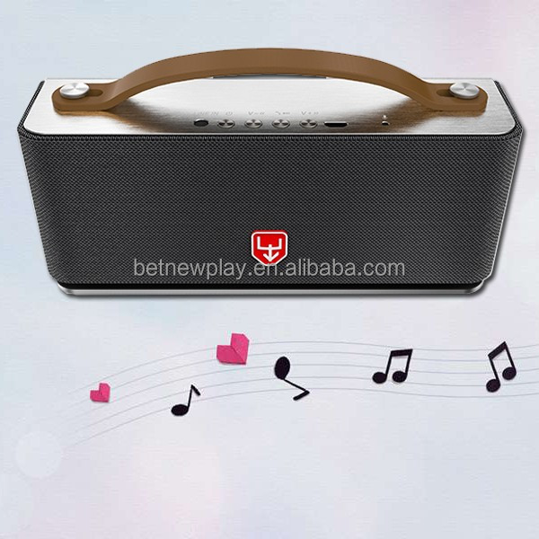 Betnew bluetooth speaker with a soft faux leather handle