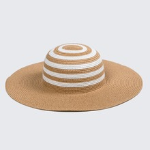 fashion style High quality colorful lady straw wide brim floppy hats, wholesale child mix colors striped hat