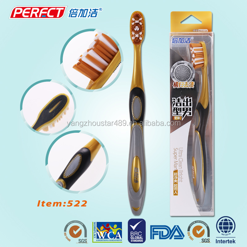 Airline toothbrush battery body shaped tooth brush