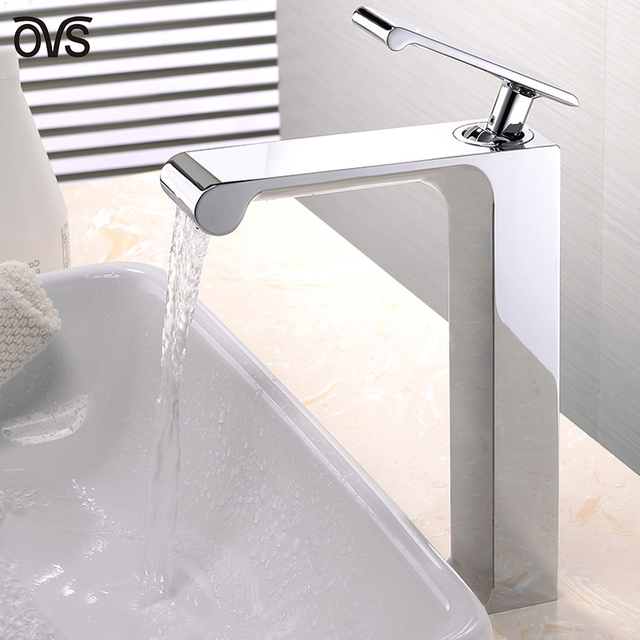 Cool Metal Surface Drawing Polished Brass Bathroom Faucets