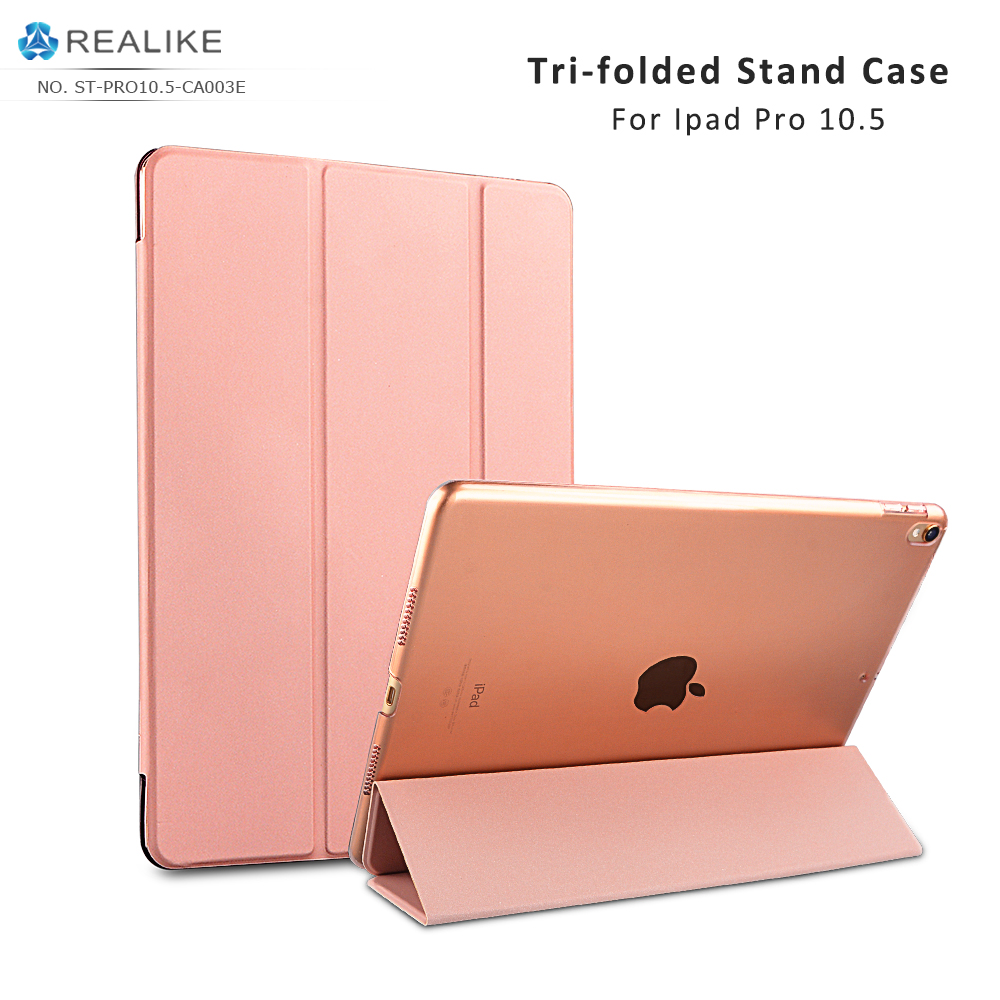 For ipad pro 10.5 inch case pc 2017,Pink pu leather for ipad 10.5 cover back