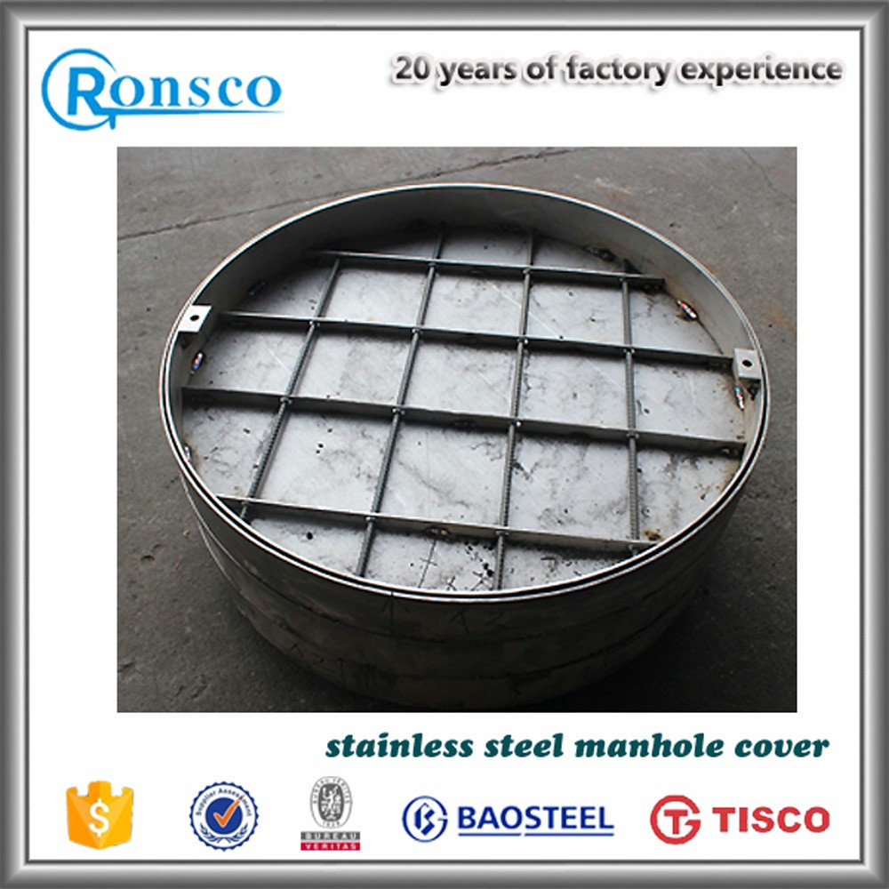 Sanitary sewer stainless steel grp manhole cover from Jiangsu