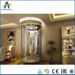 Size for small elevator size 2 person indoor home lift with cheap price