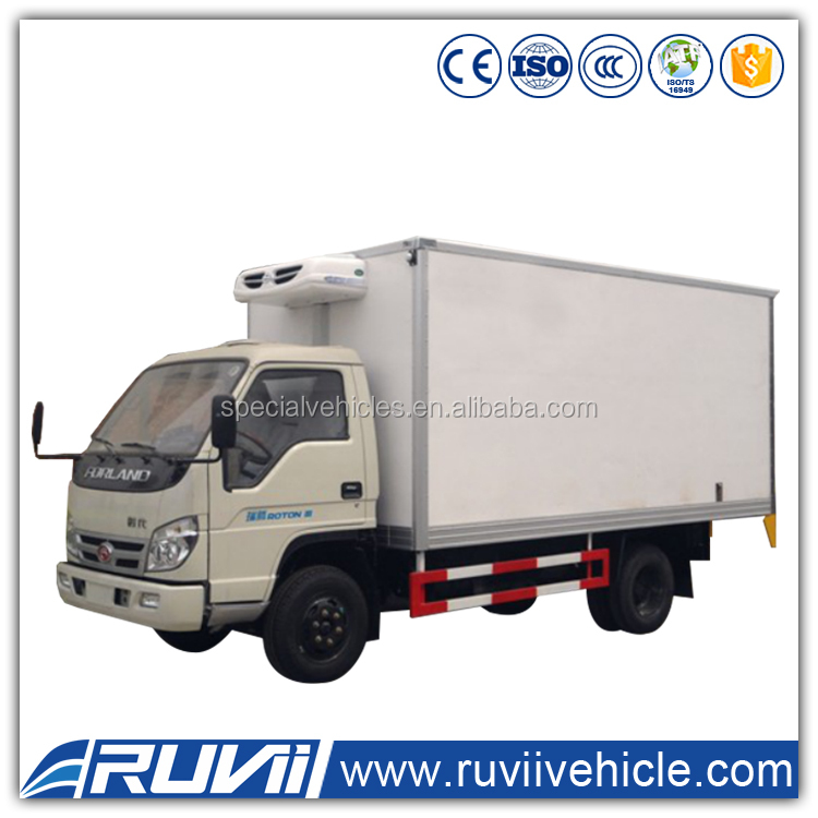 2016 New Diesel Foton 4*2 refrigerator freezer truck thermo king refrigerator van truck for meat and fish
