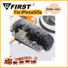 Christmas xmas cases Rabbit Fur case ;for iphone 6 case