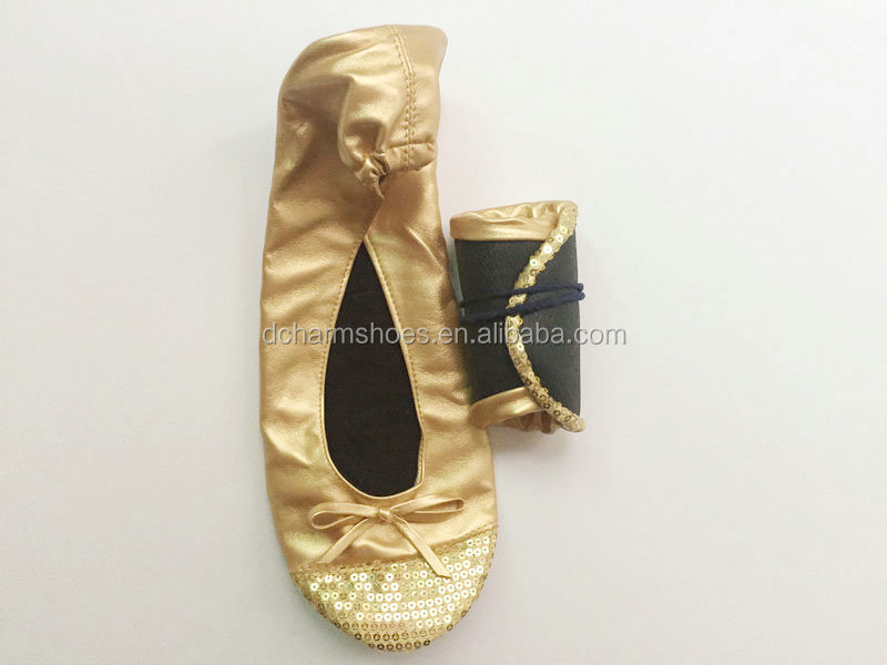 2017 Nice Apparel Roll-Up Ballet folding Slippers Flats