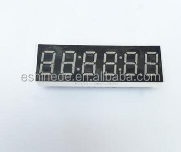 0.36 inches 6 digital 7 segment digital red display