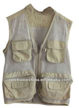 water repellent fishing vest for men