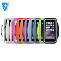 Customize high quality colorful waterproof nylon outdoor running armband case for mobile phone