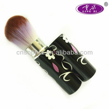 2013 best quality retractable brush retractable kabuki brush natural retractable blush brush