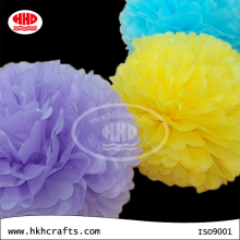 Hanging decorative round paper flower ball for wedding