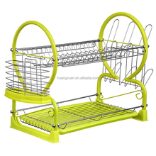Double Tier Metal Tube Dish Rack