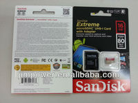 SDSDQX-016GB SanDisk Extreme 16 GB microSDHC Class 10 UHS-I Memory Card with Adapter