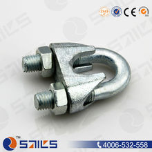 cross galvanized casted wire rope clip din 741