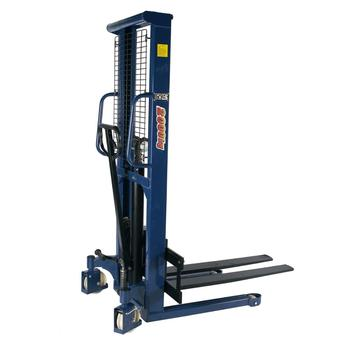 SMALL FORKLIFT PALLET STACKER HAND LIFT 2TON 1TON 1600METERS MANUAL HYDRAULIC MANUAL STACKER