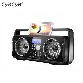OM-18036 Portable Boombox BT+USB/SD (for MP3)+FM-PLL+AUX+USB Charging Port