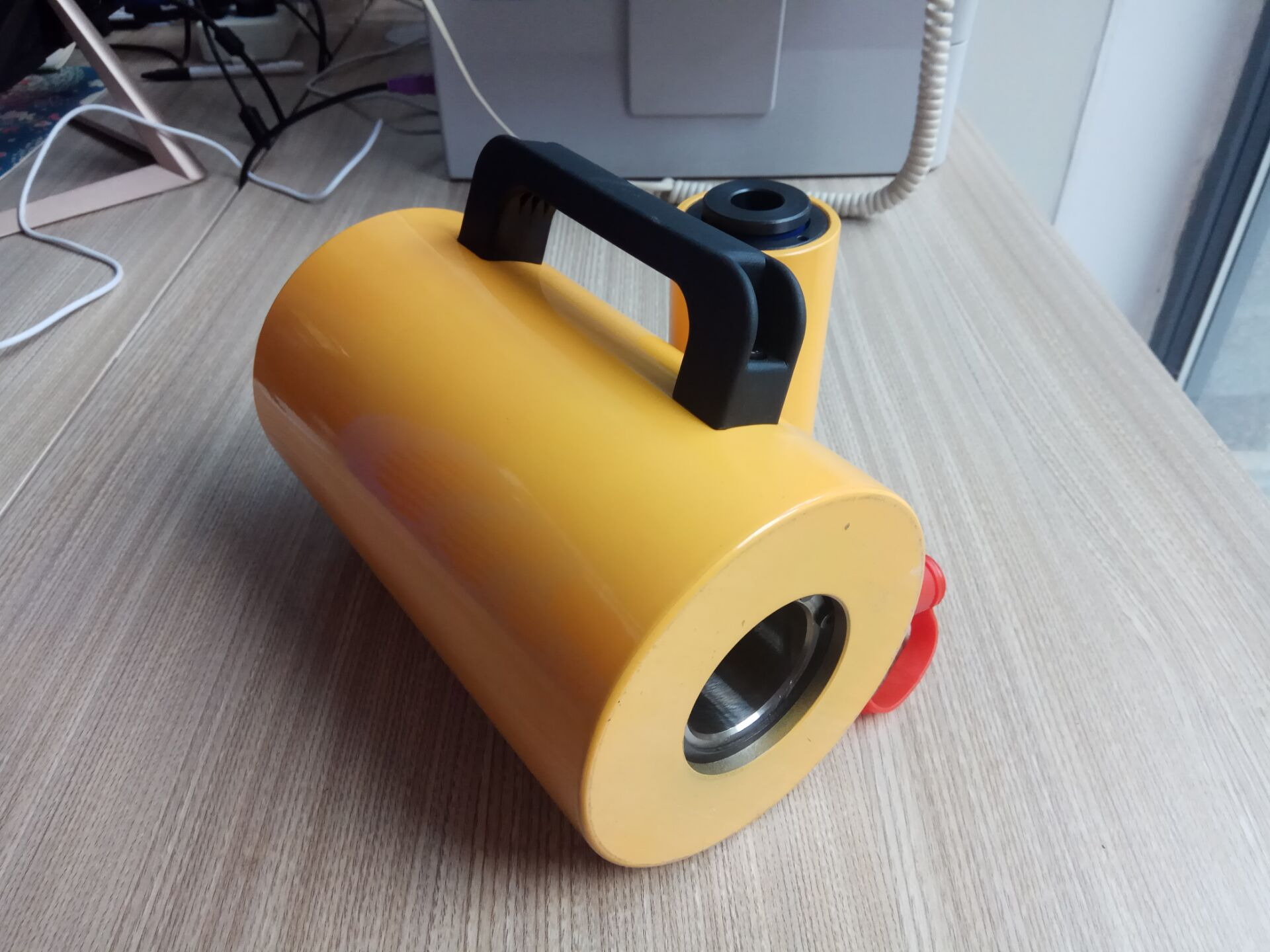 Single Acting Hollow Plunger Design Carbon Steel Hydraulic Cylinder