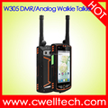 waterproof mobile phone Alps W305 4 Inch Touch Screen Analog/DMR Dual Mode Walkie Talkie NFC function
