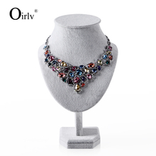 Oirlv Factory Supply Jewelry Display Stand Necklace Holder Mannequin Wooden with Velvet for Retail Shop Jewellery Bust