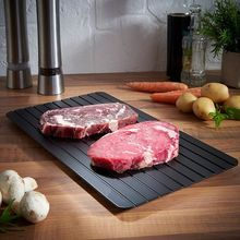 Fast Defrost Tray Defrosting Meat Board /Thawing Meat / Frozen Foods The Safest Defrost Tray Without The Use of Any Microwave