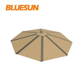 Bluesun New Energy Products Outdoor Lighting System 12v Solar Charge Umbrella for Outdoor Activity Users