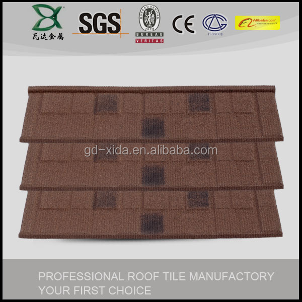 1345*420mm Charcoal Black Aluminum Zinc ceramic stone coated metal roof tile
