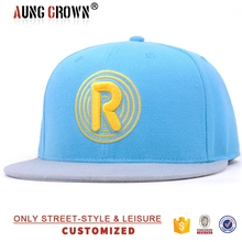 Two Tone 6 Panel Custom Your Own Design Snapback Cap Wholesale