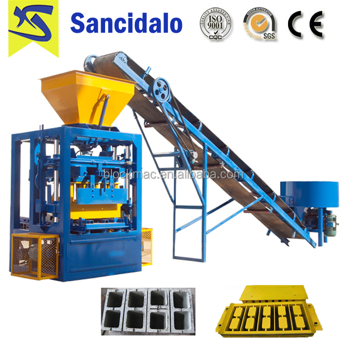 QT4-24 brick force making machine south africa with wooden pallets for block