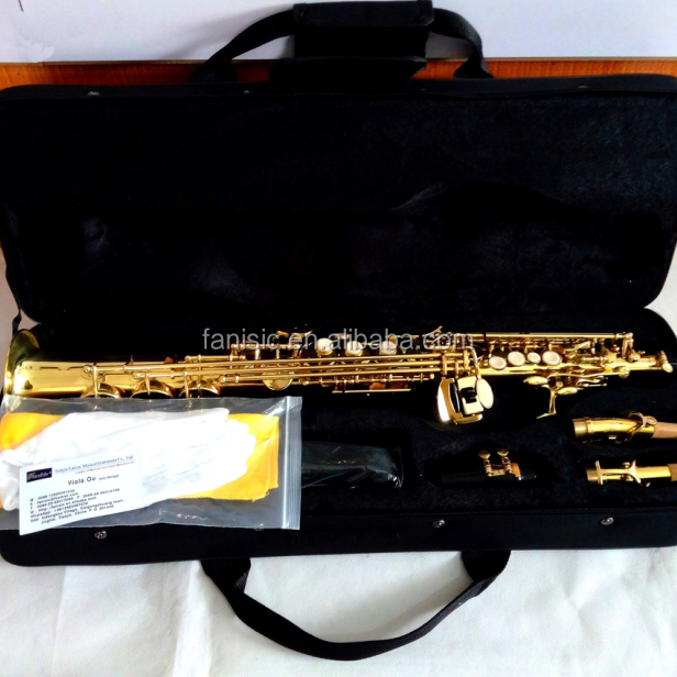 Hot Sale Cheap Popular Soprano Saxophone with Italian Leather Pads