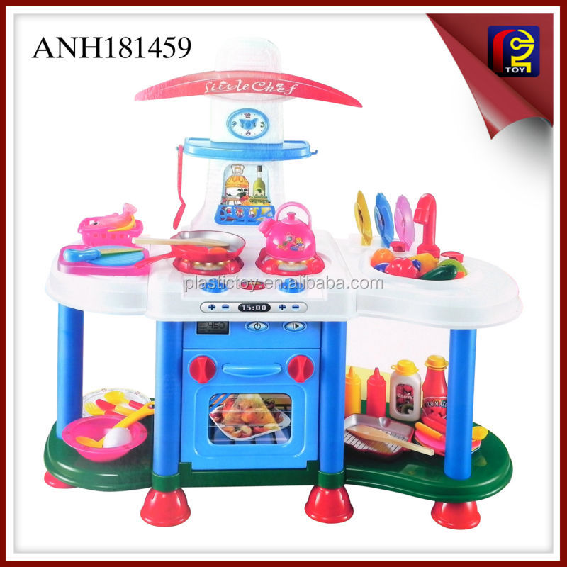 Kids kitchen play set the light music electric stove ANH181459