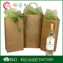 Wholesale wine liquor glass gift bags with bow