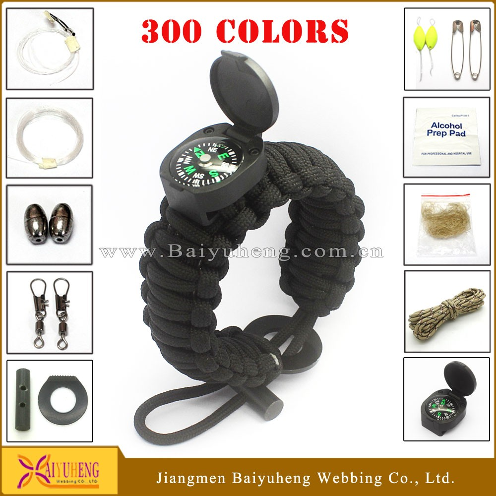 wholesale outdoor multi-purpose handmade paracord bracelet accessories