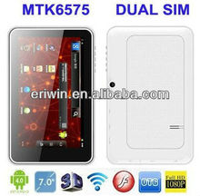 7inch Hot-selling Tablet PC with full function MTK6575 Android 4.0 Internal 3G Muilt-touch Capacitance screen