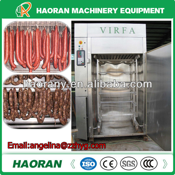small size PLC control meat smoking chamber