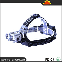 Multifunctional 2000 Lumens 2 LED T6 Adjustable Ultral Bright headlamp flashlight Bicycle Light Headlamp