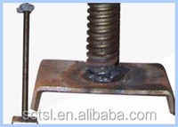 Hot dip galvanized steel pipe jack u head scaffolding base plate