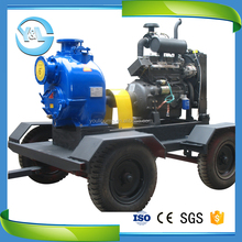 Self priming centrifugal fire fighting truck water pump