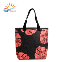 New design polyester felt fabric color tote bags for promotional