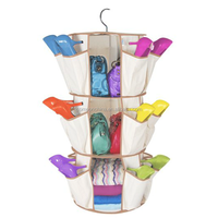 3 layers 5 layers shoes Smart rotating carousel organizer