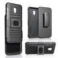 New arrival pc tpu 3 in 1 belt clip robot holster combo case for zte blade v7 with kickstand