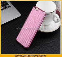 Electroplating Slim Soft TPU Bumper Clear Case Cover For Apple iPhone 6S / iPhone 6S Plus