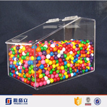 acrylic candy dispenser/pick and mix sweet dispenser/candy tin box