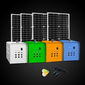 50w solar panel and 12v 24AH battery solar light kit set integrated  hybrid solar power system