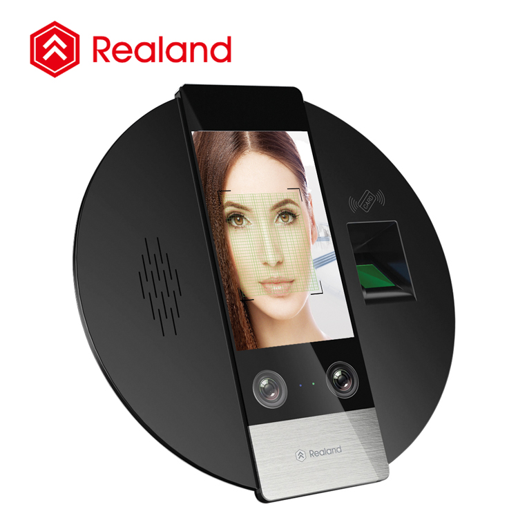 Realand G705F facial and fingerprint recognition access control time and attendence rfid