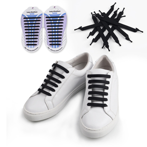 Custom design bulk quick silicone lazy shoelaces
