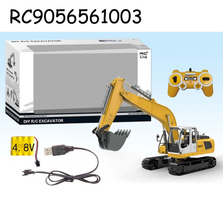 Hot sale 1:16 2.4G 17 Channel Intelligent DIY 3 in 1 Radio Control Diecast Excavator <strong>Model</strong> Car Toy RC9056561003