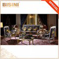 Italian Royal Style Living Room Sofa Set, Luxury Swan Design Sitting Room Furniture, Delicate Carving Bright Color Couch