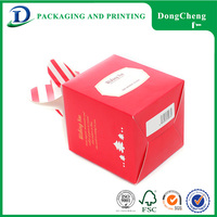 Chinese hot sale custom logo tea gift draw donut packaging box