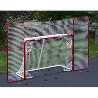 Metal Ice Hockey Goal with Backstop and Target